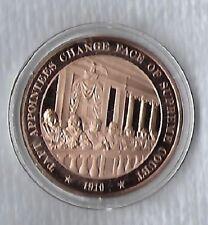 1910 Taft U.S. Supreme Court JUSTICE - Franklin SOLID BRONZE Medal Uncirculated