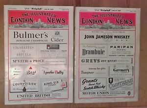 The Illustrated London News April 26th +  May 3rd 1952 No's 5897 + 5898