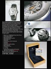 Reloj De Cuerda manual Otto schlund travita1966 Pulsera de cuero Tief Azul