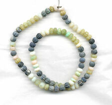 "CARVED MUTI-COLORED ETHIOPIAN OPAL RONDELLE BEADS - 594B - 16.5"" Strand"