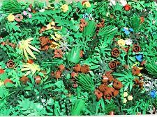 Lego Bulk Lot 50 Pieces Plants Trees Bushes Leaves Trunk Flowers Foliage