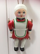 Midwest Cannon Falls Mrs Claus Puppet Doll Christmas Ornament 22398 Xmas