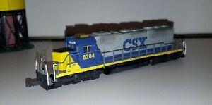 N Kato 176-4806 * CSX SD40-2 Diesel Locomotive #8204 Custom N Scale