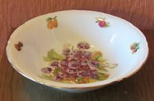 "Czechoslavakian 9"" Fruit / Serving Bowl with Fruit and a Nut."