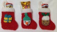 KNITTING PATTERN - Snowman, Present, Pudding Christmas stocking tree decoration