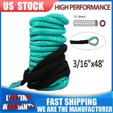 """1/4""""x 50' 10000LB Cable de línea de Cuerda SINTETICA CABRESTANTE 4WD SUV Camioneta Verde Con Vaina"""