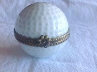 Vintage Hand Painted Rochard  Limoges France Golf Ball trinket box