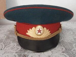 Antigua gorra de plato oficial uso militar ejercito Unión Soviética Rusia URSS