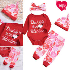 Girls Valentine Outfit In Girls Outfits Sets Newborn 5t Ebay