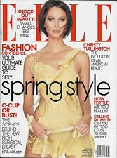ELLE Magazine US Edition March 2002 Christy Turlington
