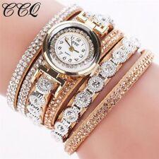 Fashion Women Stainless Steel Rhinestone Bracelet Wrist Watch Jewelry Gift DS