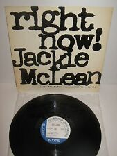 JACKIE McLEAN – Right Now! – original vintage vinyl LP stereo. like new!