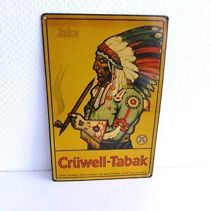 Grüwell - Tabak- Original altes Blech-Reklameschild für Rauchtabak