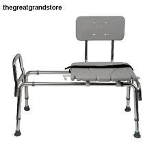 Shower Seat & Bench Bath Chair Transfer Sliding Disabled Back Elderly Handicap