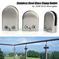 304 Stainless Steel Glass Clamp Holder For Fixing Window Shelf Handrail Flat Arc