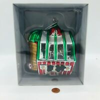 Large Department 56 Mercury Glass Red Barn Ornament