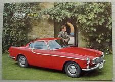 VOLVO P1800 Car Sales Specification Leaflet Aug 1961 #RK224/2