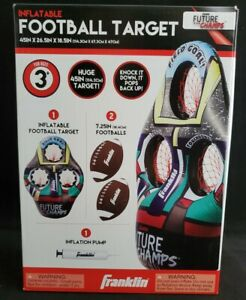"""Franklin Sports Kids Football Target Toss Game Inflatable 45"""" Throwing Target"""