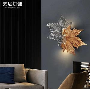 Maple Leaf Crystal Chandelier Wall Lamp Pendant Light Fixtures Lighting Modern