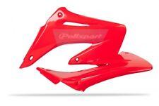 HONDA CR 125 250 02-07 Radiator Rad Scoop Shroud Plastics Red Pair 03 04 05 06