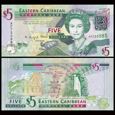 East Caribbean 5 Dollars, 2008, P-47,  UNC