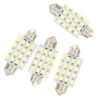 4 Pcs 42mm 16 SMD LED White Car Dome Festoon Interior Light Bulb FP