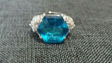Blue and Clear Cubic Zirconia Ring size 5