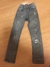 BOYS JEANS (SUPER SKINNY) NEXT RIPPED GREY AGE 3 YEARS