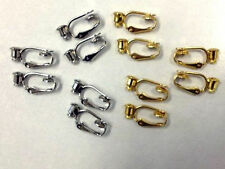 6pr 3 gold 3 silver plated clip on POST EARRING CONVERTERS, AFFORDABLE