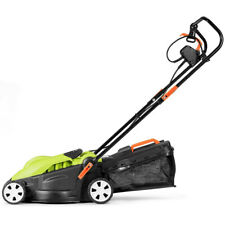 Lawn Mower Small Electric Lawnmower Corded Walk-Behind Push Lawn Mower Foldable