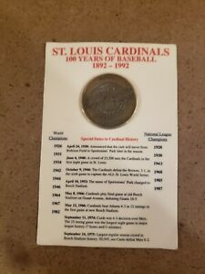St. Louis Cardinals, 100 Years of Baseball 1892-1992 100th Anniversary Coin