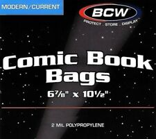 15 BCW CURRENT MODERN AGE COMIC BOOK ARCHIVAL POLY BAGS 2 MIL ACID FREE