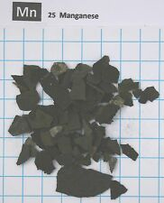 1 troy ounce Manganese metal pieces 99,85% pure element 25 sample