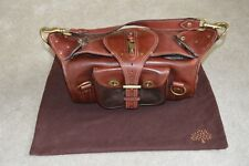 Mulberry Alana Dark Brown Vintage Leather Popper Shoulder Strap Handbag Womens