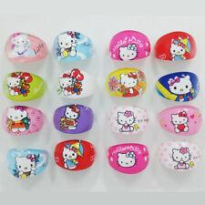 Lot of 4 Hello Kitty Rings Cartoon Jewelry For Kids Children 59-6