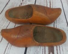 Vintage Holland Dutch Hand Carved Wooden Shoes Clogs Marked 1939 Rustic Charm