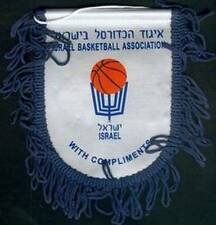 ISRAEL BASKETBALL FEDERATION SMALL PENNANT 14x15cm NEW SEALED