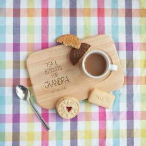 Personalised Tea & Biscuits Board, Grandad Father's Day Ideas, Engraved Coaster