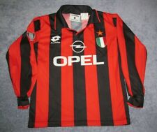 AC Milan LS 1996 Kids Home Stripe Lotto Jersey Boys S Youth 1997 Rare