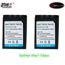 2XLi-10B/12B Camera Replacement Battery for Olympus C-7000 Camedia Eager AU-ship