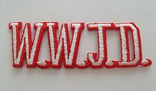 W.W.J.D. Patch Jesus Christian Religious What Would Jesus Do Church Bible