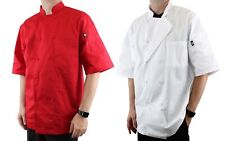 Dickies Chef Coat Cool Breeze Lightweight Short Sleeve 10 Button Dc105
