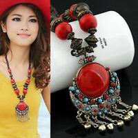 Pendant Retro Long Chain Trendy Boho Necklace Jewelry Vintage Women Sweater