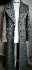 Gorgeous Autograph Coat Full Length Alpaca Wool Black Mix Size 8 Tweed Style