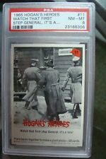 ❤🎁 Hogan's Heroes Fleer 1965 PSA 8 #11 Card trading set break lot Bob Crane TV