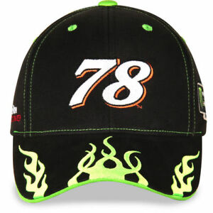 Martin Truex Jr. # 78 Nascar 2018  Hat Adjustable. Black with green flames