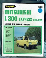 CAR WORKSHOP MANUAL - MITSUBISHI L300 EXPRESS VAN 1980 to 1985
