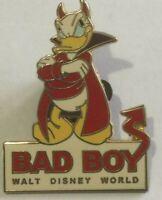 Donald Duck devil Bad Boy Disney Walt Disney World pin  M