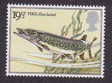 GB 1983 British River Fishes - Pike - 19½p Stamp - MNH