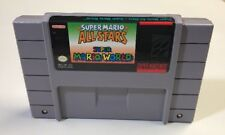 Super Mario All-Stars + World Super Nintendo Snes Cleaned Tested Authentic NICE